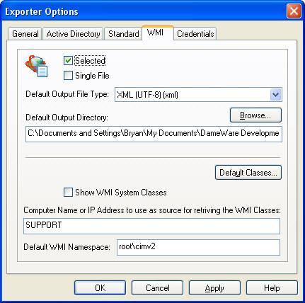 WMI Options