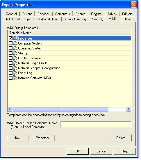 Exporting WMI Information